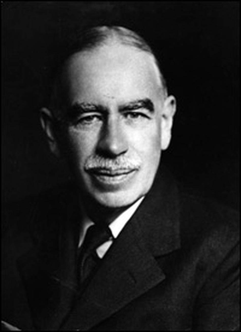 English economist John Maynard Keynes, seen here circa 1940, believed no one in America was smart enough to run it.
