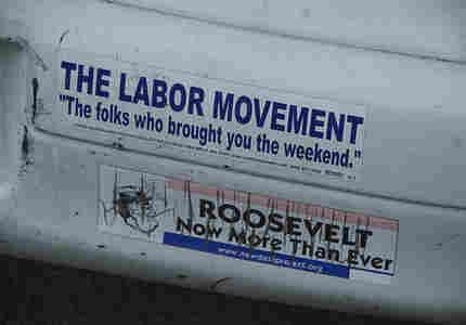 New Deal Project bumper sticker