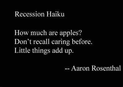 Recession  Haiku Slideshow