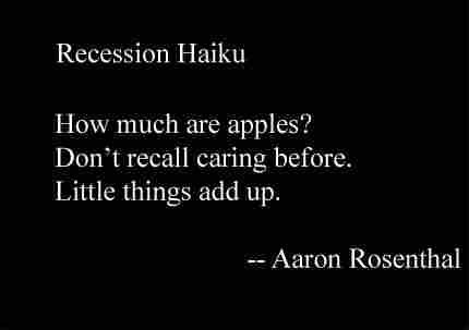 Recession  Haiku Slideshow