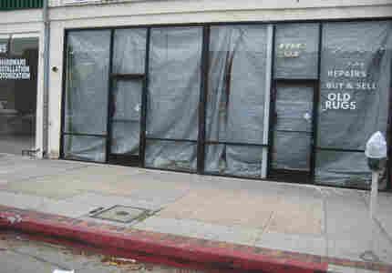 dark storefront