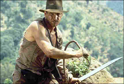 Harrison Ford as Indiana Jones.