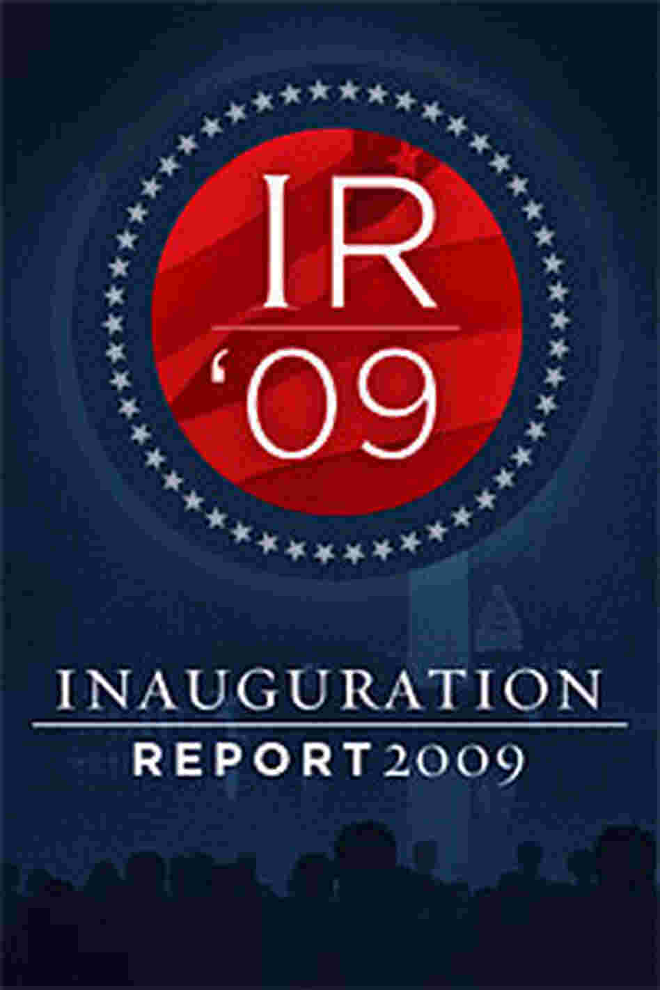 A draft of one of the logos we're considering for the Inauguration Report project.