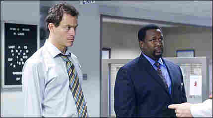 Dominic West and Wendell Pierce of 'The Wire'