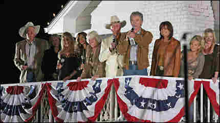 The cast of Dallas at a recent reunion event