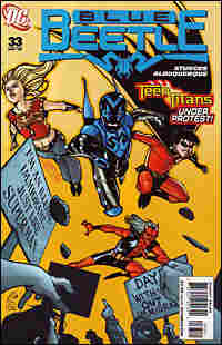 comic book cover: Blue Beetle