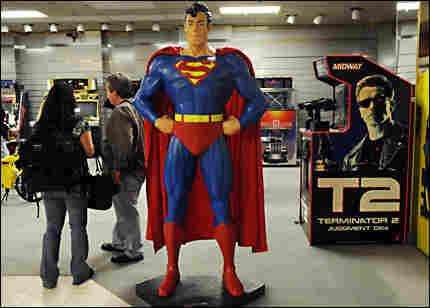 Michael Jackson's statue of Superman