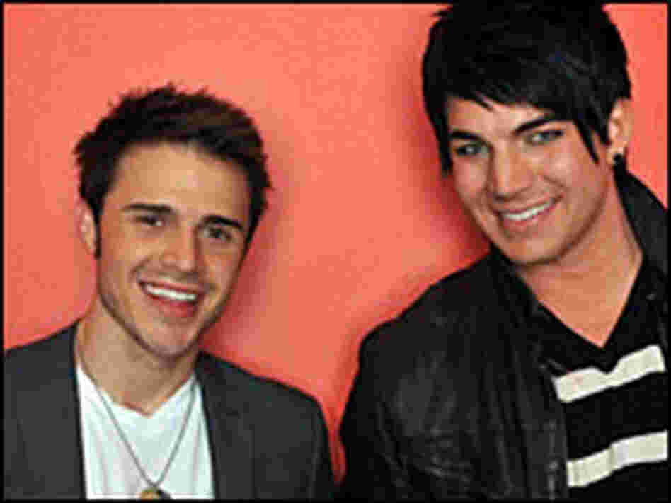 Kris Allen (left) and Adam Lambert