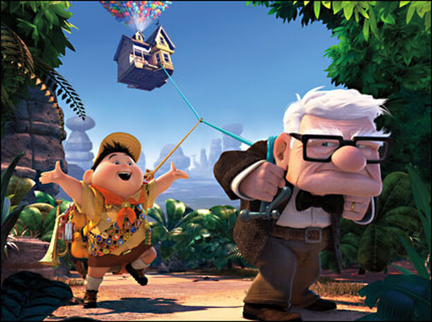 A scene from Pixar's Up
