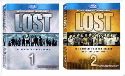 The Blu-ray sets of Lost Seasons 1 and 2