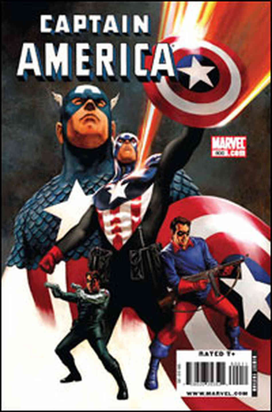The cover of an upcoming issue of Captain America