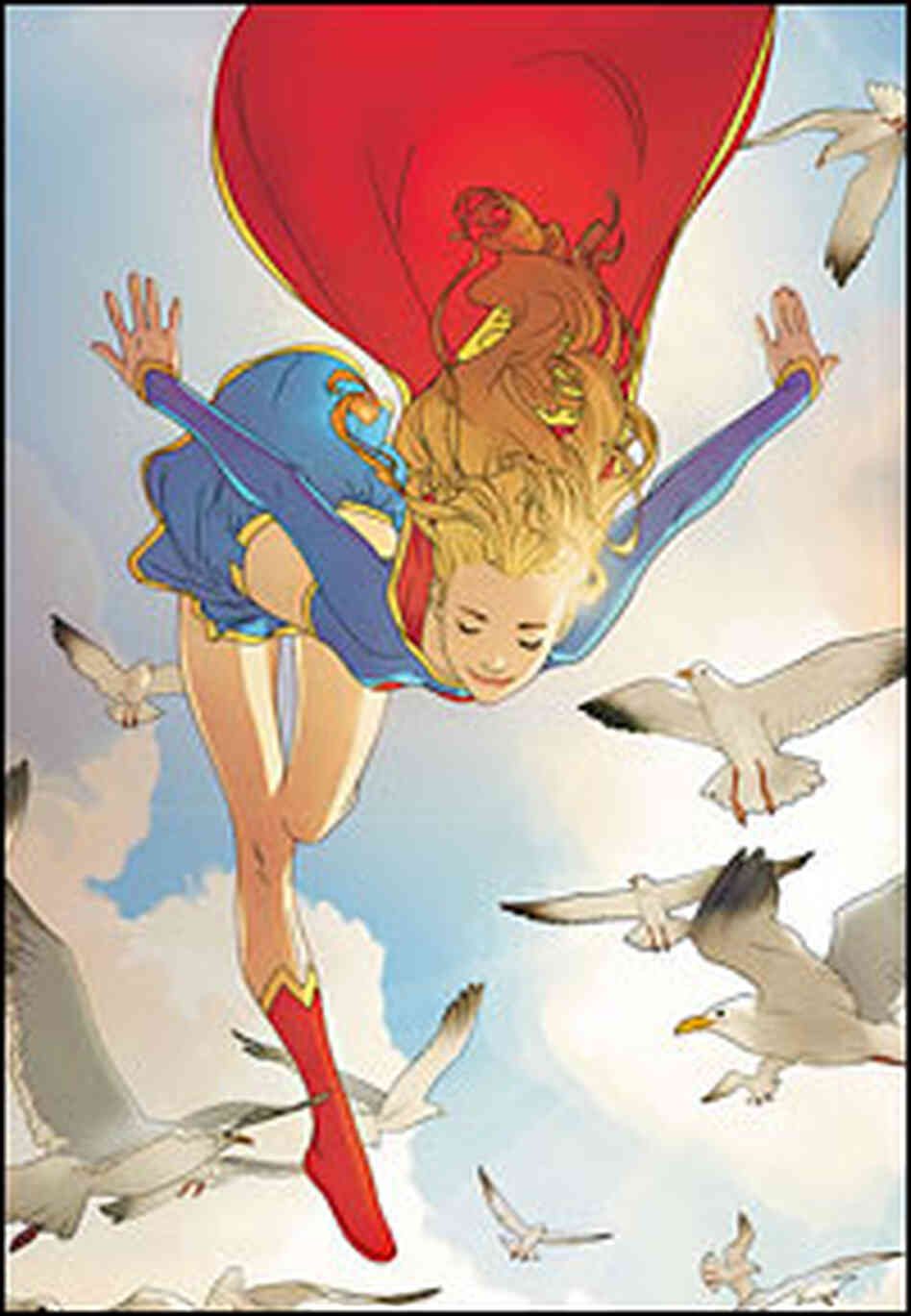 Supergirl flying confidently