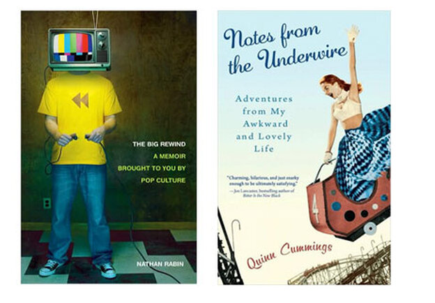 The covers of Nathan Rabin's The Big Rewind and Quinn Cummings' Notes From The Underwire