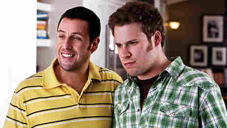 Adam Sandler and Seth Rogen in Funny People.