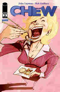 The cover of the comic book 'Chew.'