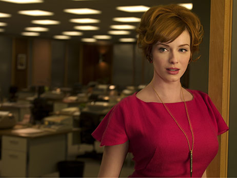 Christina Hendricks of Mad Men.