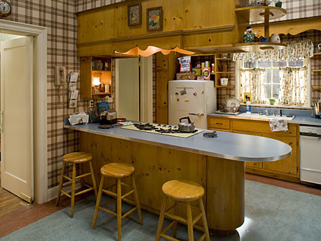 The kitchen of the Draper family on Mad Men.