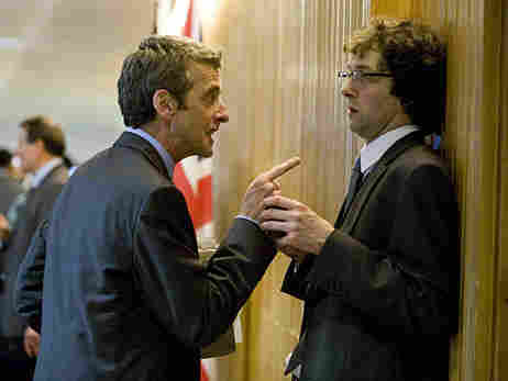 Peter Capaldi and Chris Addison in In the Loop.