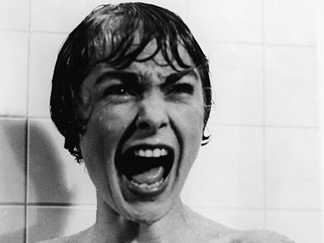 Janet Leigh in the shower scene in 'Psycho.'