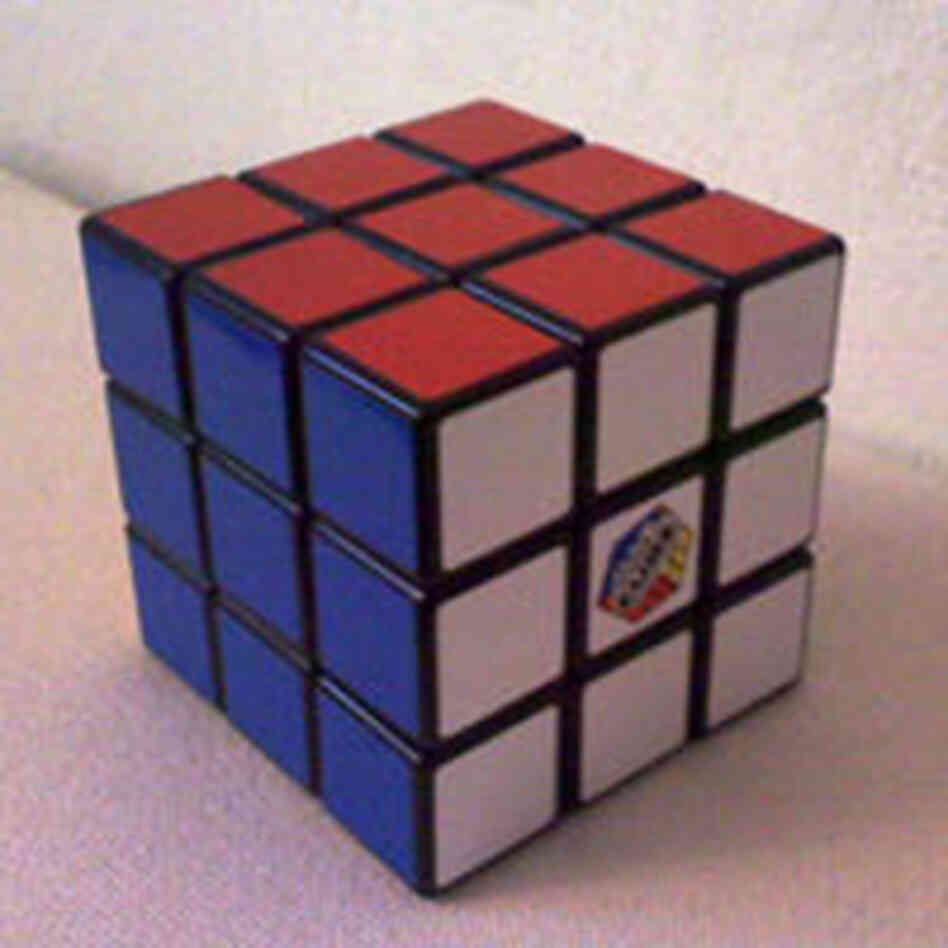 A fully solved Rubik's Cube.