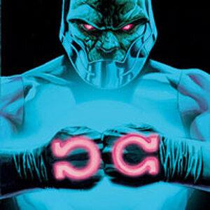 Evil comics character Darkseid.