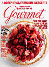 The April 2009 cover of Gourmet magazine.