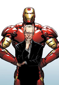 The cover of Models, Inc. featuring Tim Gunn and Iron Man.