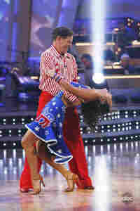 Tom DeLay and his partner Cheryl Burke dance on 'Dancing With The Stars'.