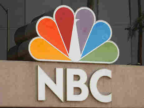 NBC's logo on the NBC Studios building.