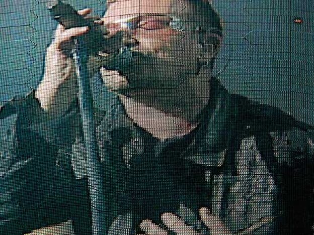 U2 Frontman Bono on the Cowboy Stadium GinormoTron.