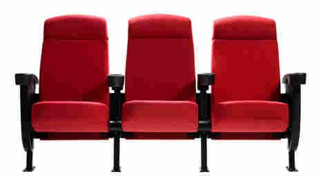 Three theater seats