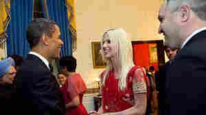 President Barack Obama with Michaele and Tareq Salahi