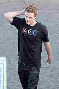 Justin Timberlake on the set of the film The Social Network on November 25, 2009.