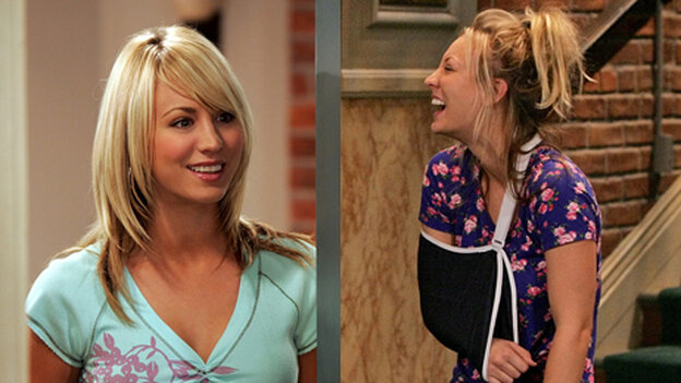 Kaley Cuoco as Penny in The Big Bang Theory.