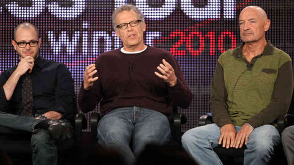 Damon Lindelof, Carlton Cuse and Terry O'Quinn.