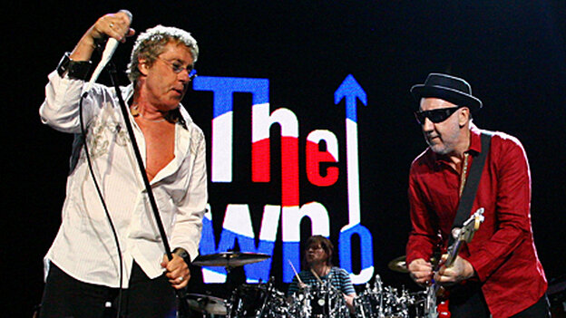 Roger Daltrey and Pete Townshend perform in Brisbane, Australia in March 2009.