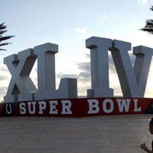 Super Bowl XLIV sign in Fort Lauderdale, Florida.