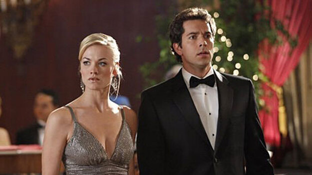Yvonne Strahovski and Zachary Levi of NBC's 'Chuck'.