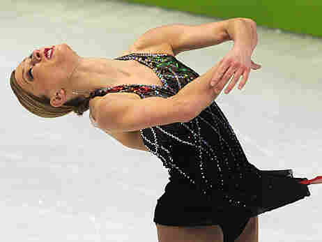 Joannie Rochette performs in the short program on Tuesday night.