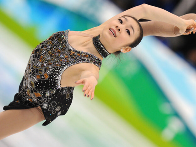 Kim Yu-Na performs her short program at the 2010 Winter Olympics.
