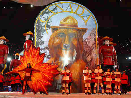 The Made In Canada Parade was part of the Olympic closing ceremonies on Sunday night.