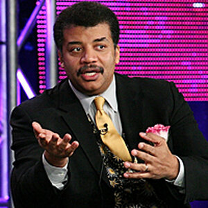 Neil deGrasse Tyson speaks at the Television Critics Association press tour in January 2010.