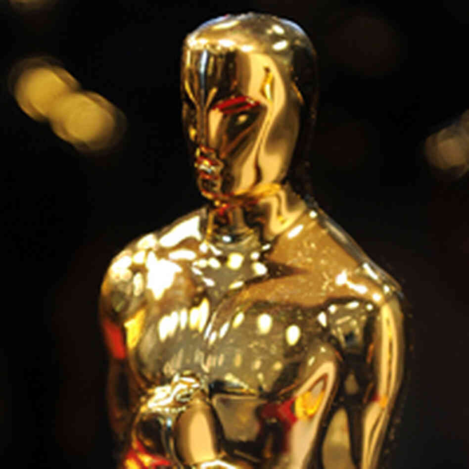 An Oscar statue on display in New York in February.