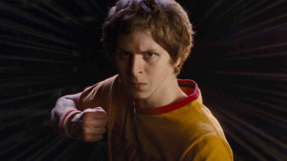 Michael Cera in Scott Pilgrim Versus The World.
