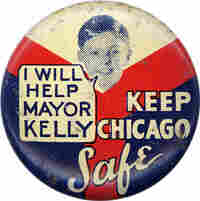 Button: I will help Mayor Kelly Keep Chicago safe.