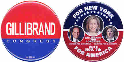 Gillibrand campaign buttons.