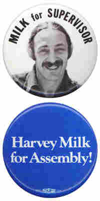 Milk for supervisor and Milk for assembly campaign buttons.