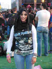 """A so-called """"Muhajababe""""-- a young woman who wears a headscarf, but dresses in otherwise """"normal"""" cl"""