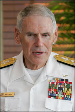 Former US Central Command Chief Admiral William Fallon last year in Abu Dhabi.