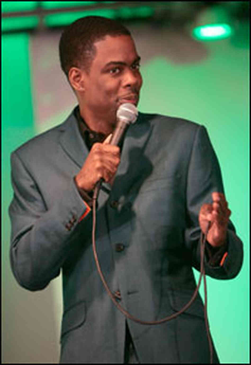 Comedian Chris Rock performs in Phoenix, Arizona in February.
